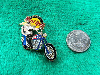 Hard Rock Cafe Washington DC Man and Woman on Motorcycle Limited Edition Pin