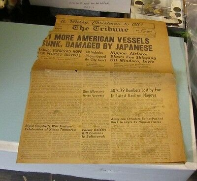December 24 1944 Manila Philippines Tribune Newspaper Nippon Air Force Triumphs
