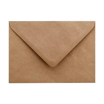 50 x C5 Brown Ribbed Kraft Envelopes for Greeting Cards 100Gsm - 162 x 229mm