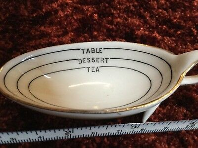 Antique ironstone/porcelain Victorian tea, dessert or tablespoon measure