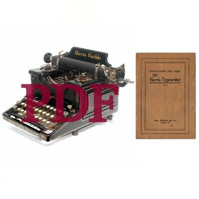 INSTRUCTION MANUAL Harris Visible No.4 Typewriter Digital File Instant Download