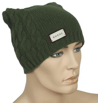 4445bb72e2a NEW GUCCI LUXURY Current Collection Tiger Knit Wool Beanie Hat 57 s ...
