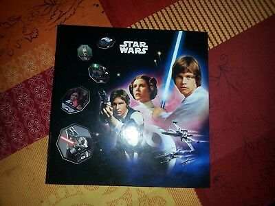 COLLECTION Album complet  54 jetons / Cartes STAR WARS Cosmic Shell Leclerc 2015