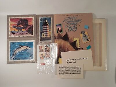Lot of US Postal Service Commemorative Stamps Collectibles Puzzles 1989 Set