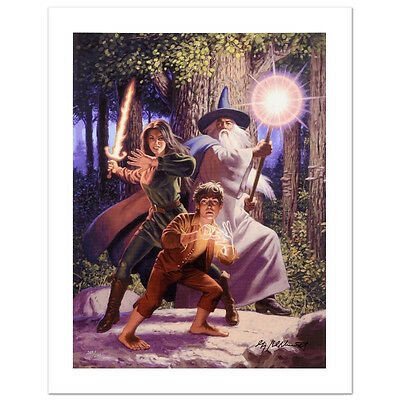 GREG HILDEBRANDT Lord Of The Rings SIGNED GICLEE on CANVAS LOTR HOBBIT Frodo