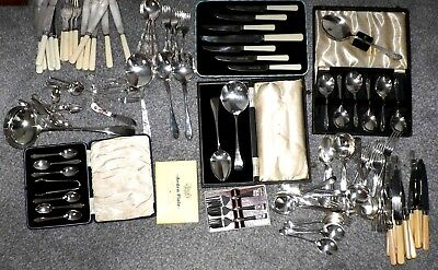 Large Collection Of Vintage Silver Plated Cutlery