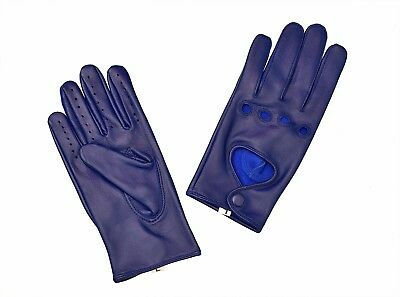 Women Lady's Lambskin Soft Genuine Leather Driving Gloves