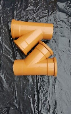 Underground Drainage Fittings (Osma Only) 2x110 mm Y Junctions.