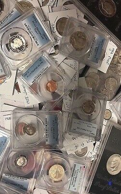One PCGS Certified/Graded Coin & 10 Proof & (BU) Coins-Silver-PREMIUM-Ships FREE
