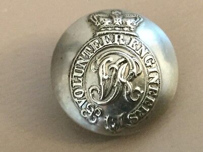 Volunteer Engineers Victorian Military  Button 23mm. Hobson & Sons London