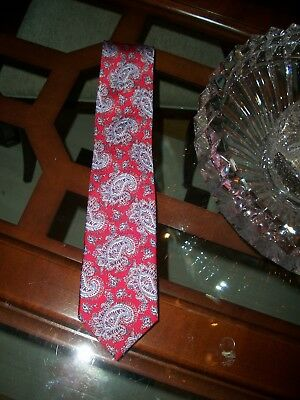 new BRIONI red paisley silk executive neck tie Italy $230
