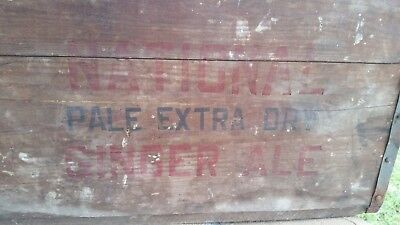 1926 NATIONAL Pale Extra Dry Ginger Ale Wooden Crate GUGGENHEIM CO Washington DC