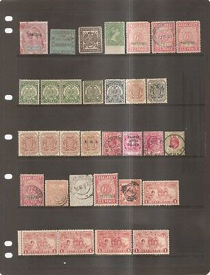 British Commonwealth - Older Stamps Transvaal & More on Stock Card.