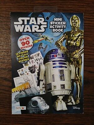Star Wars Mini Sticker Activity Book Disney Color Scenes Coloring Activity Jedi