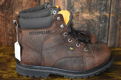 Caterpillar Men's WHISTON Soft Toe Brown Lace Up Work Boots P73380 Size 12