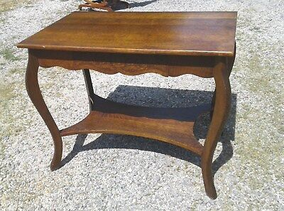 Antique Tiger Oak Larkins Library Table Original Finish