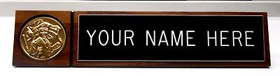 POLICE LAW ENFORCEMENT DESK SIGN w/2 lines engraved Logos Great Gift FAST SHIP