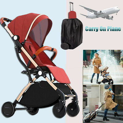 Foldable Baby Stroller Portable Pram Travel Lightweight Newborn Baby Carriage