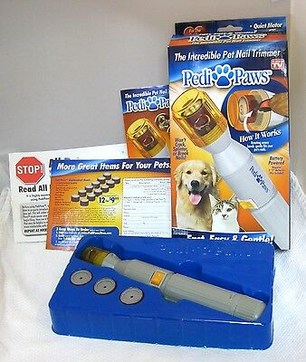MIP Pedi Paw Incredible Pet Nail Trimmer As Seen ON TV New in Package Pedipaws