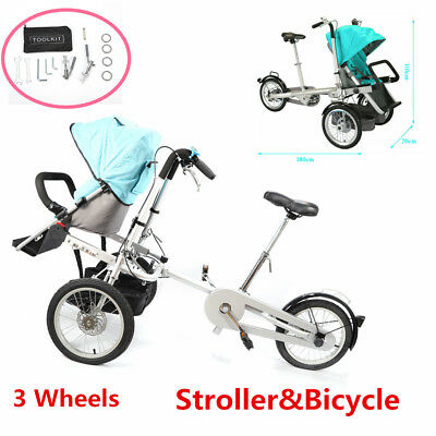 Mother&Toddler Mutifunctional Baby Stroller Pushchair Carrier One Seat Bicycle