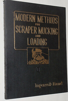 Vintage 1939 Ingersoll-Rand Mining & Tunneling Scraper & Loading Book & Catalog!
