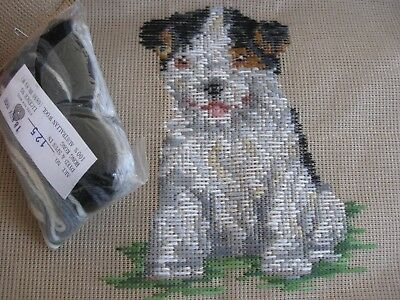 QUEEN ADELAIDE Trammed TAPESTRY & WOOL no: 125 CUTE PUPPY