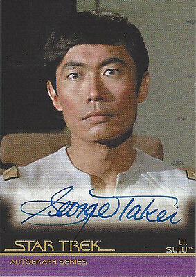 2007 STAR TREK MOVIES COMPLETE - AUTOGRAPH A20 George Takei as Lt. Sulu