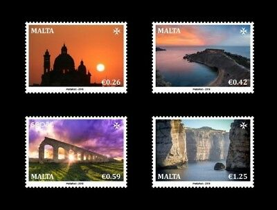 Malta Stamps Mint Set Sepac Series 'Spectacular Views' Issued 27th July 2018