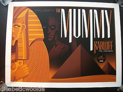 The Mummy by Tom Whalen Artists proof Universal Monsters art print mondo
