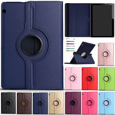 """For Huawei Mediapad T3 7"""" 8"""" 10"""" Tablet 360 Rotate PU Leather Case Stand Cover"""