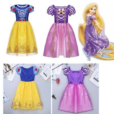 Kids Baby Girls Fairytale Belle Princess Costume Halloween Cosplay Fancy Dress