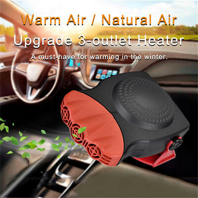 12V 150W Portable Heating Cooling Heater Fan Car Auto Defroster Demister NEW