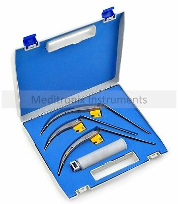MEDITRONIX© McCoy Flexi-Tip CONVENTIONAL YELLOW LINE Laryngoscope Set