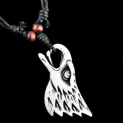 Classic tribal style Engraved eagle head pendant Necklace