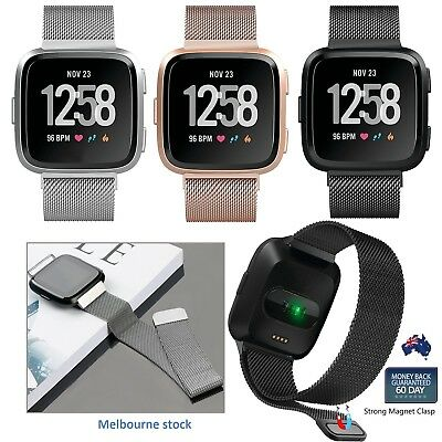 For Fitbit Versa Smart Watch Magnetic Milanese Stainless Watch Wrist Band Strap