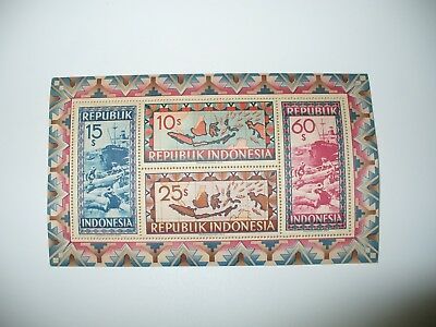 Indonesia Souvenir Sheet Scott # A40 Mint Nh Stored In Stamp Mounting Jacket