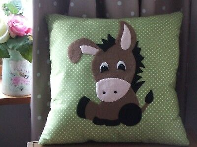 Make your own Baby Donkey cushion kit, Handmade Cushions, Craft Kits, Gifts