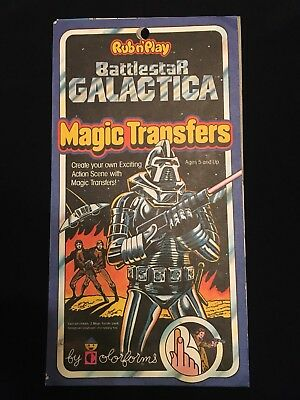 BATTLESTAR GALACTICA Vintage Rubn'Play Magic Transfers by Colorforms,1978 Toys
