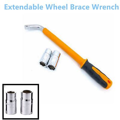 HEAVY DUTY Extendable Wheel Car Brace Socket Tyre Nut Wrench Set 17 19 21 23 mm