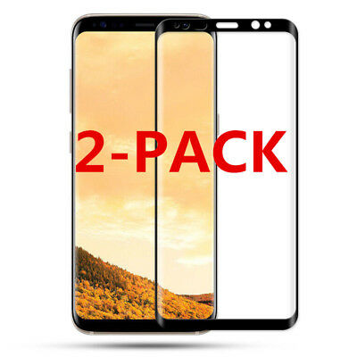 2X 9H 6D Full Cover TEMPERED GLASS SCREEN Film FR SAMSUNG S8 S9 Plus Note 8 LOT