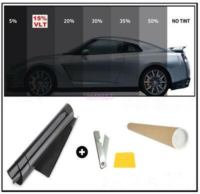 5% VLT CAR SUV HOME WINDOW TINT GLASS FILM TINTING ROLL FEET SHADE 3mx50cm US