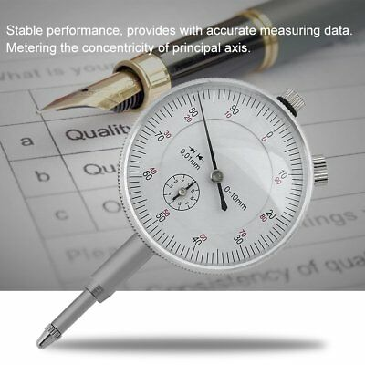 Copper Alloy Dial Indicator With Ears Precision Tool Pointer Display SilverQI