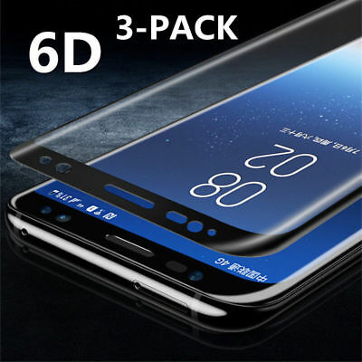 3X 9H 6D Full Cover TEMPERED GLASS SCREEN Film FR SAMSUNG S8 S9 Plus Note 8 LOT