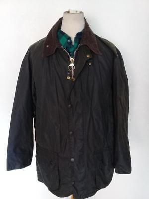 BARBOUR Beaufort WAXED Jacket Green Size 42