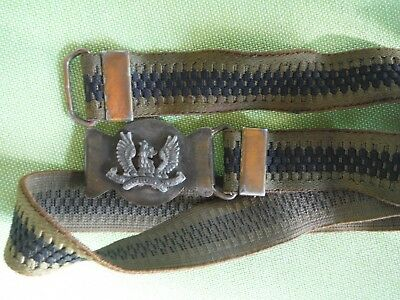 Antique Ayrshire (Earl of Carrick's Own) Yeomanry Belt w/ Buckle, Army - RARE