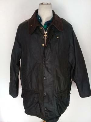 BARBOUR Beaufort WAXED Jacket Green Size 46