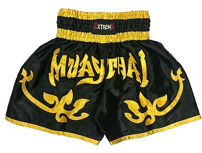 EXTREME Muay Thai Fight Shorts MMA Grappling Kick Boxing Trunks Martial Arts
