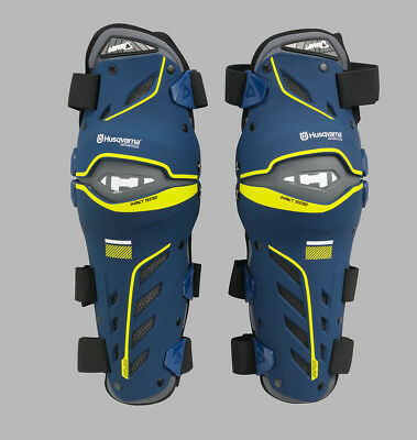 Husqvarna Dual Axis Knee Guard / Blue / Motocross / Protection / 3Hs1625302