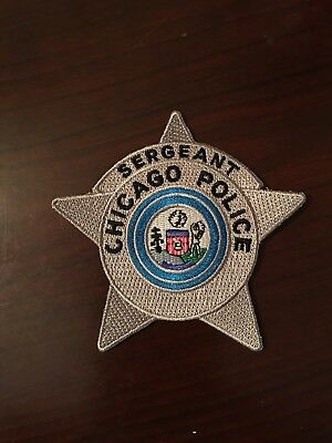 Chicago Police Star Sergeant Patch.