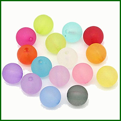 Rockin Beads Mixed Frosed Acrylic Round Spacer 10Mm 190 Pack 1.5Mm Hole 10X4mm